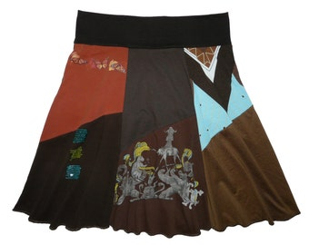 Sale 20% Off Plus Size 1X 2X Boho Chic Hippie Skirt Women's upcycled clothing from Twinkle