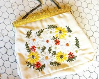 1970's Flower Handbag