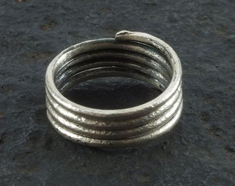 Ancient Viking Coil Snake Ring  C.866-1067 A.D. Size 8 1/2   (18.6mm)(brr1061) Vikking Ring