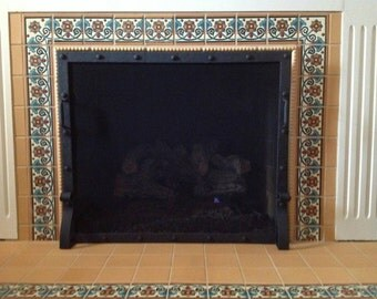 Rivited fireplace screen