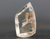 Manifestation, Bubble Quartz - Crystal in Crystal Rare Formation, Jewelry Designer or Collector Polished, Healing Minerals (CA4541)