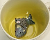 Cat Riding Fish (In Stock)