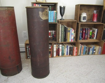 Vintage Machine Age Industrial Tall Storage  / Display Can. Great home decor. Umbrella / Cane stand.