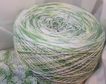 Crochet Cotton - Size 10 - Hand Dyed - Green Thumb - HDT - Small Project Size - 10, 25, 50, 75 or 100 Yards