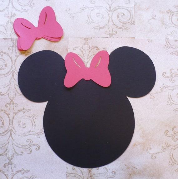Diy broche le noeud roux sur minnie mouse jeu t te noire forme - Dessin tete de minnie ...