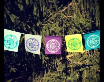 Mandala Prayer Flags