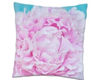 Peony Pillow, Accent Pillow, Home Decor, Decorative Throw Pillow