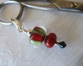 Red and Green Scissor Fob