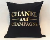 "18""X18"" Chanel and Champagne Pillow Cover"