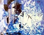 Blue Discussion original painting