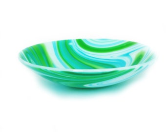 Fused Glass Bowl Cascadia Vortex