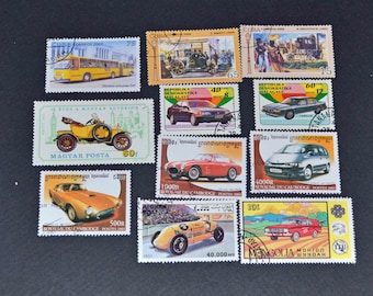 50 Car stamps from around the world  B82