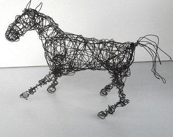 Unique Wire Horse Sculpture - QUICK TURN