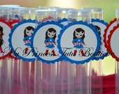 Captain America Party Favors Set of 10, Gumball Tube Party Favors, Superhero Gumball Tubes, Superhero Party Favors, Birthday Party Favors