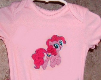 Girls Applique top...Rainbow Pony...Choose a Pony.  0-24 months and 2T to 10 Girls