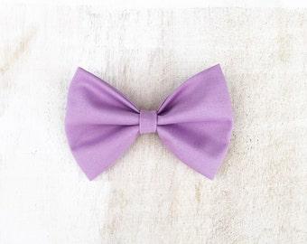Light pastel purple lilac hair bow on clip kawaii Pin Up