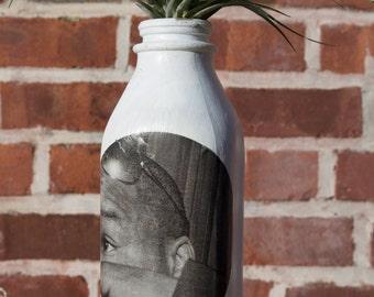 MLK Jr. Milk Jug Flower / Air Plant Vase