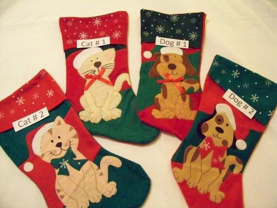 personalized pet cat dog christmas stocking