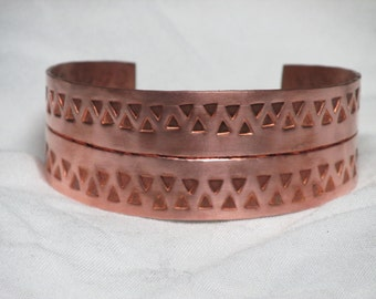 "Period 1st Century Viking Jewelry - Handmade Viking Style Copper Cuff Bracelet - for 7"" wrist - Ready to Ship"