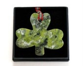 Handcrafted Connemara Marble Christmas Ornament (Shamrock)