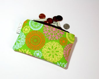 Coin Zip, bright madallion, coin pouch