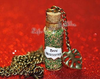 The Jungle Book Magical Bare Necessities Bottle Necklace with a Palm Leaf Charm,  Disney Bound & Gift Giving, Disney Cosplay, Jungle Book