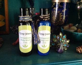 Lemongrass Body Wash and Lotion kit