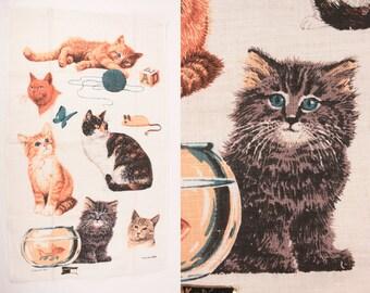 vintage Kay Dee kitchen towel // screen printed linen