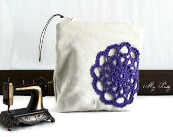 ON SALE - Cosmetic Bag - Lipstick Holder - Change Purse - Coin Purse - Make Up Bag - Travel Bag - Clutch - Vegan Purse
