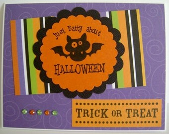 SALE - Just Batty About Halloween note card