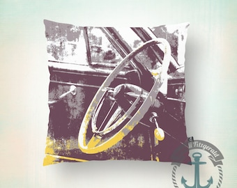 Steering Wheel Throw Pillow | Muscle Car Masculine Mancave Home Decor  Product Sizes and Pricing via Dropdown Menu