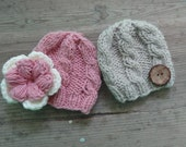 twin photo props, newborn photography props, photo prop hat set, boy and girl photo props twinning , Coming Home Hats for Twins Twin Hat Set
