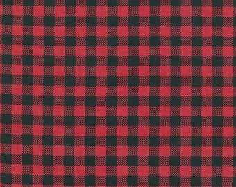Red Plaid from Robert Kaufman's Burly Beaver Collection by Andie Hanna