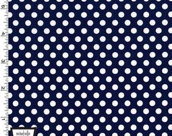 Navy Blue Kiss Dots from Michael Miller
