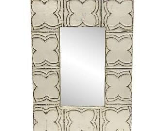 White clover pattern mirror