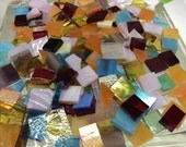 150 GRAB BAG #5 MOSAIC MiX Stained Glass Mosaic Tiles Mix Size & Color