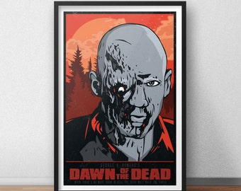 Dawn of the Dead- 12 x 18 Inch Poster - George A. Romero - Horror Movie - Zombie