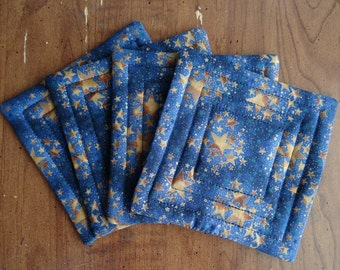 Star Clusters Handmade Quilted Coasters Mug Mats or Candle Mats Wiccan Pagan Spiritual