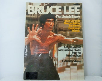 Bruce Lee the Untold Story Illustrated family album photos Collectors Issue 1980 Vintage Magazine DanPickedMinerals