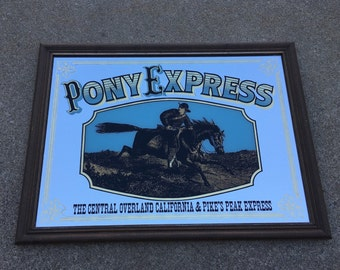 Vintage Pony Express Mirror Wall Hanging