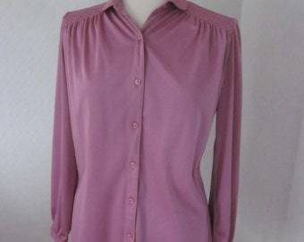 SUMMER SALE! Dusty pink vintage shirt