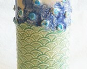 ceramic artisan tumbler 20oz stoneware 20T011