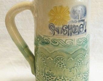 Sunshine ceramic coffee mug 20oz stoneware 20C014