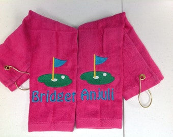 Personalized golf towel, golf, golf gift, lady  golf gift, golf accessories, golf party, personalized items, embroidered towels, sport towel