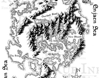 Illustrated Map of The Shivering Isles