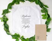 Stepmother Printed Handkerchief a special gift for your wedding day you choice of hankie and fonts. Step mother. Mother of the Bride
