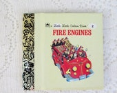 CHRISTMAS In July SALE Fire Engines, Original Little Little Golden Book, 1990s Miniature Classics 24 Pages-New Old Stock Unused