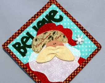 BELIEVE Santa Mini Wall Hanging