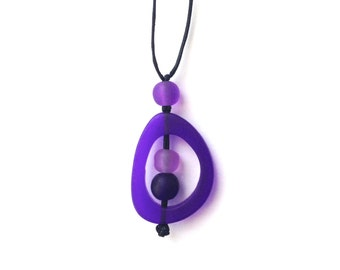 Nursing Necklace - Baby Safe Breastfeeding Necklace - Monkey Mama Twiddle Buster - Purple, Lilac