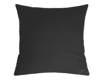 Charcoal Gray Solid Decorative Throw Pillow Cover / Pillow Case / Cushion Cover / Cotton / 18x18""